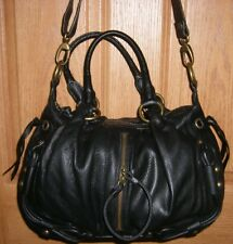 EUC High End Black Supple Leather hype Hand Hobo Shoulder Bag CrossBody Purse