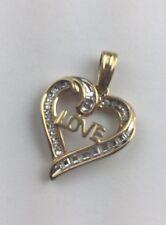 Nuevo 14K Diamante Oro Corazón Amor Colgante Perfecto Día de la Madre Regalo