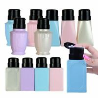 Pop Empty Pump Liquid Alcohol Press Nail Polish Remover Bottle Dispenser 200ml