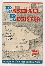 1949 THE SPORTING NEWS BASEBALL REGISTER- GENE BEARDEN LIFE STORY