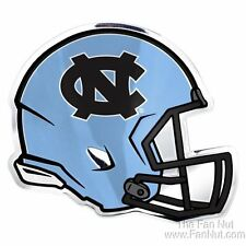 North Carolina Tar Heels UNC HELMET Color Chrome Metal Auto Emblem University of
