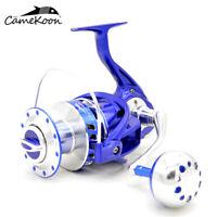 CAMEKOON Full Metal Spinning Reels 35KG Carbon Fiber Drag Saltwater Fishing Reel