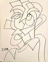 CORBELLIC ART IMPRESSIONISM DRAW ABSTRACT, TOP HAT THINKER, CUBISM DECOR SKETCH