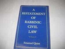 A Restatement of Rabbinic Civil Law Volume 1 Laws of Judges and Laws of Evidence
