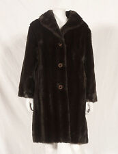 60'S FRENCH VINTAGE FAUX FUR COAT UK 12 SMALL 14