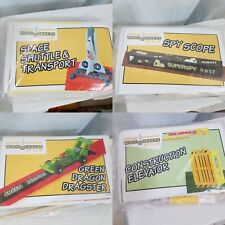 4 Young Woodworkers Club Kits Space Shuttle Spy Scope Dragon Dragster Elevator