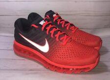 Nike Air Max 2017 Bright Crimson Total Crimson Black Size 11 849559-600