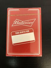Brand New Budweiser Playing Cards