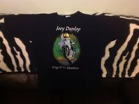 Joey Dunlop - King of The Mountain Black T-Shirt - Large - Front & Back Graphics