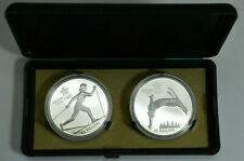 1988 ROYAL CANADIAN MINT SILVER CALGARY OLYMPIC WINTER GAMES 2 COIN SET RARE !