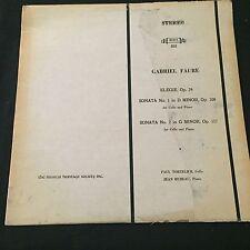 Gabriel Faure Elegie Op. 24 Sonata 1 & 2 Paul Tortelier, Jean Hubeau MHS 833