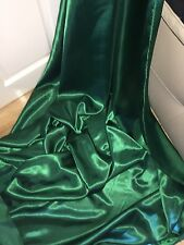 """1 MTR FOREST GREEN LINING SATIN FABRIC...58"""" WIDE"""