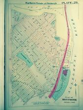 1906 N. Pittsburgh Montrose & Ohara Twp. Pa. Humbolt Park Gm Hopkins Map Atlas