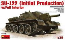 1/35 SOVIETICO SU-122 iniziale productionwith FULL Interior modello KIT PER MINI ARTE