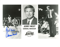 JERRY WEST SIGNED AUTOGRAPHED 8x10 PHOTO LOS ANGELES LAKERS LEGEND BECKETT BAS