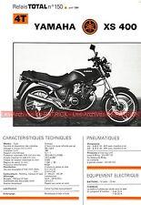YAMAHA XS 400 XS400 Fiche Technique Moto 000338