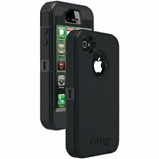 NEW OtterBox Defender iPhone 4 4S Hard Rugged Case w/ Holster Belt Clip (Black)