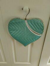 Vintage Turquoise Vinyl Hanging Clothespin Bag