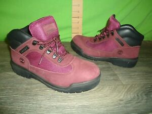 authentic Timberland boots mens 7.5 deep purple GREAT SHAPE only worn a few time