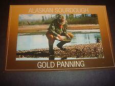 Vintage Rppc Alaskan Sourdough Gold Panning (post card}