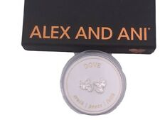 Alex and Ani Dove Post Earrings .925 Sterling Silver