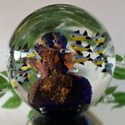 Vintage+Large+Art+Glass+Aquarium+Round+Heavy+Paperweight%21+Coral+%26+24+Fish%21+6+LBS