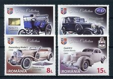 Romania 2017 MNH Tiriac Collection Classic Cars Oldtimers Delage 4v Set Stamps