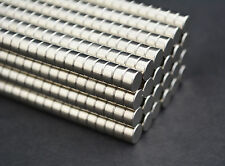 50 MAGNETS - 6mm X 3 cylinder disk STRONG N45 rare Earth Neodymium - US SELLER