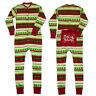 Xmas Family Matching Women Kids Sleepwear Nightwear Pajamas Set Pyjamas