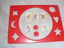 Vintage Magna Doodle Loose Lot of Seven (7) Magnets Out of print & Frame Vhtf @