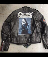 Custom Ozzy Osbourne Leather Jacket Size Large Ozzy Prince Of Darkness Jacket