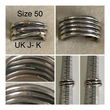 PANDORA SILVER & GOLD INTERTWINED RING SIZE 50 UK J - K REF 190383 DISCONTINUED