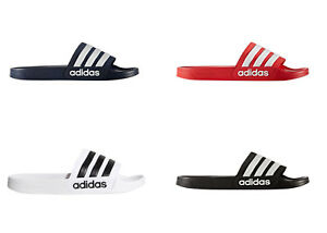 Adidas Men's Adilette Slides / Sandal Shoe Navy Red Black or White