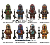 Collection 8 pcs Minifigures Mandalorian Star War Baby Yoda Boba Fett Lego MOC