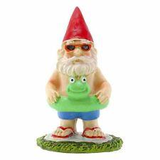 Miniature Fairy Garden Gnome w/ Frog Inner Tube - Buy 3 S 00004000 ave $5