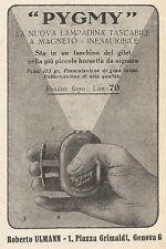 Z2301 PYGMY la nuova lampadina tascabile - Pubblicità 1928 - Vintage advertising