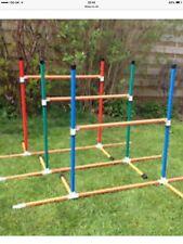 Dog Agility Multipurpose Fixed Base 6 Pole Weave or 3 x Jump Set by Jessejump
