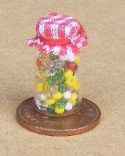 SCALA 1:12 Loose FRUTTA Gemme DOLCI in un barattolo in Miniatura Casa Delle Bambole Accessorio Negozio