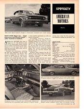 1967 AMERICAN MOTORS MARLIN ~ ORIGINAL NEW CAR PREVIEW ARTICLE / AD