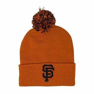 MLB Beanie San Francisco Giants, Pom Orange Cuffed