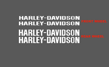 Harley Davidson V Rod Front and Rear Wheel High Quality Decals Stickers
