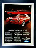 1981 Chevrolet Camaro High Roller The Hugger Original Print Ad 8.5 x 11