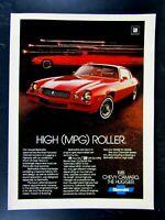 1981 Chevrolet Camaro High Roller The Hugger Original Print Ad 8.5 x 11