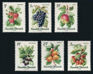 Austria: 1966 Fruits (778-783) MNH