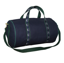 Authentic Goldman Sachs Small Canvas Duffle Bag - Navy with Hunter Green Webbing