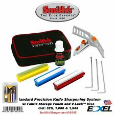 Smith's #50595 Standard Precision Knife Sharpening System w/ Storage Pouch Grit