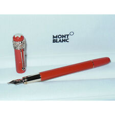 2ND* Montblanc Heritage Rouge et Noir Spider Metamorphosis Fountain Pen Coral M