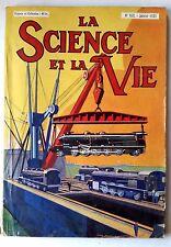 Science et vie n°163 du 1/1931; Moteur Clerget/ Motorisation de l'armée Anglais