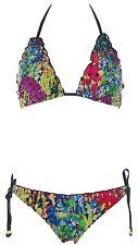 W3027 Heine Damen Push Up Triangel Bikini 40 Cup C Bunt