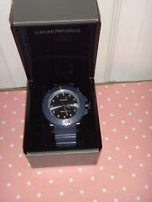 EMPORIO ARMANI Men's Sportivo Blue S/Steel Watch AR6083 Blue Dial 46mm WR 20 ATM